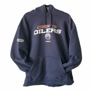 Reebok Hockey Edmonton Oiler Hoodie NHL fan game L
